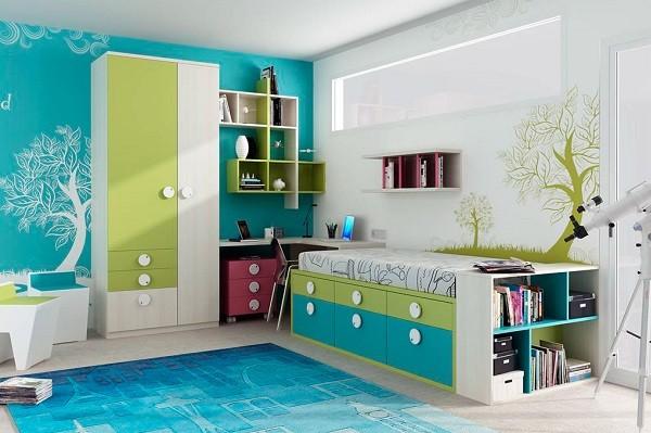 Muebles juveniles para dormitorios de adolescentes for Cuartos para ninas y adolescentes