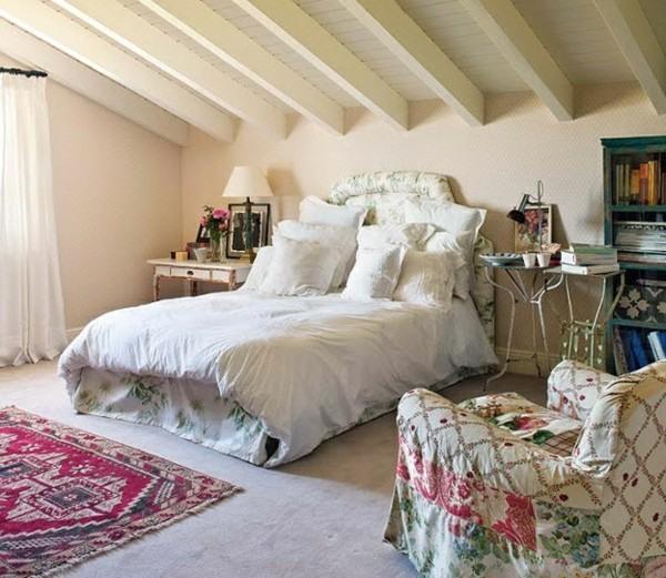 cuarto dormitorio cama blanca romántica