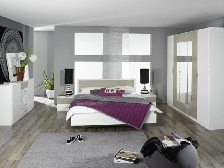 cuarto dormitorio moderno puf gris