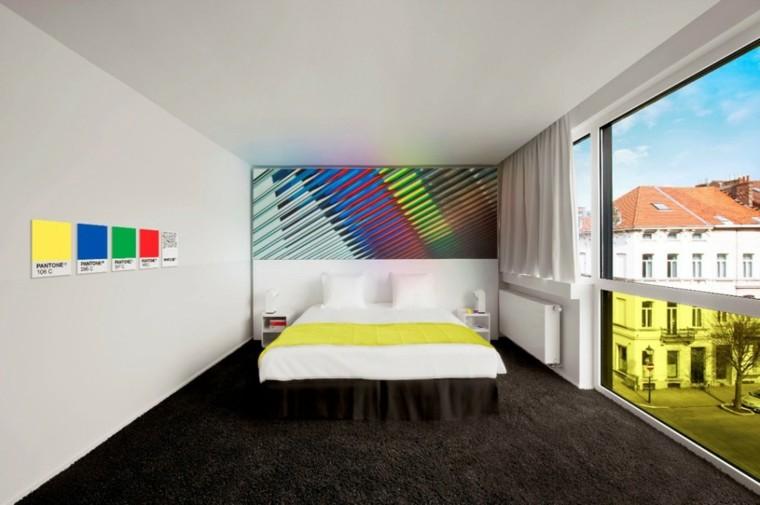 cuarto dormitorio poster colores ventana