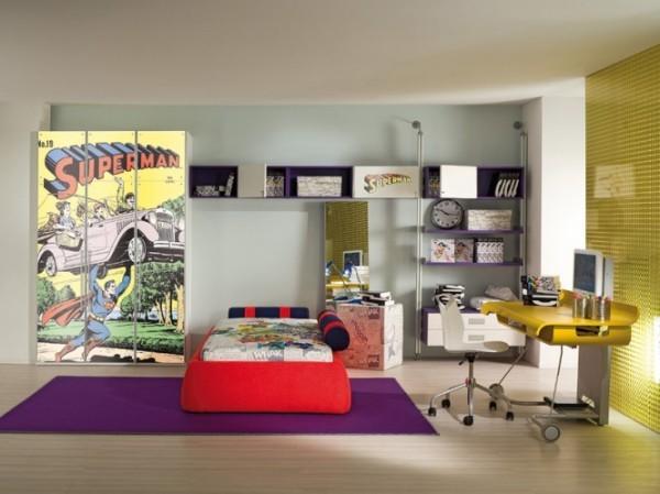 cuarto jóven armario superman comic