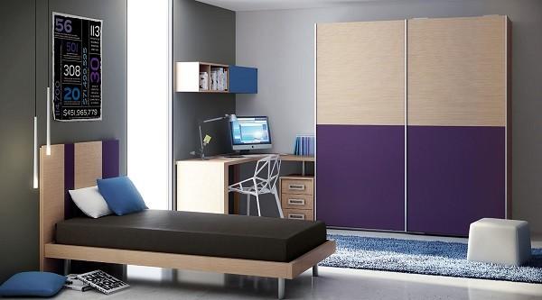 Muebles juveniles para dormitorios de adolescentes for Recamaras para jovenes minimalistas