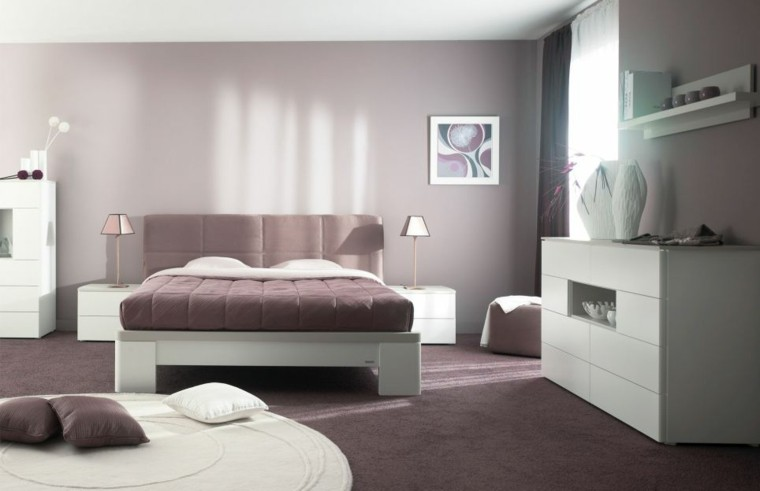 cuarto moderno diseño minimalista cojines