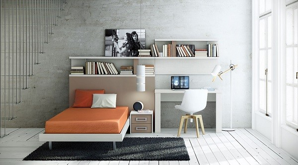 Muebles juveniles para dormitorios de adolescentes for Muebles para oficina estilo minimalista