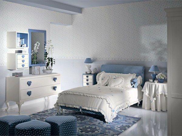 habitaciones juvenilies estilo tradiconal espejo azul
