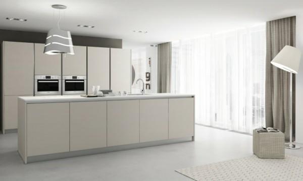 decoración minimalista cocina blanca
