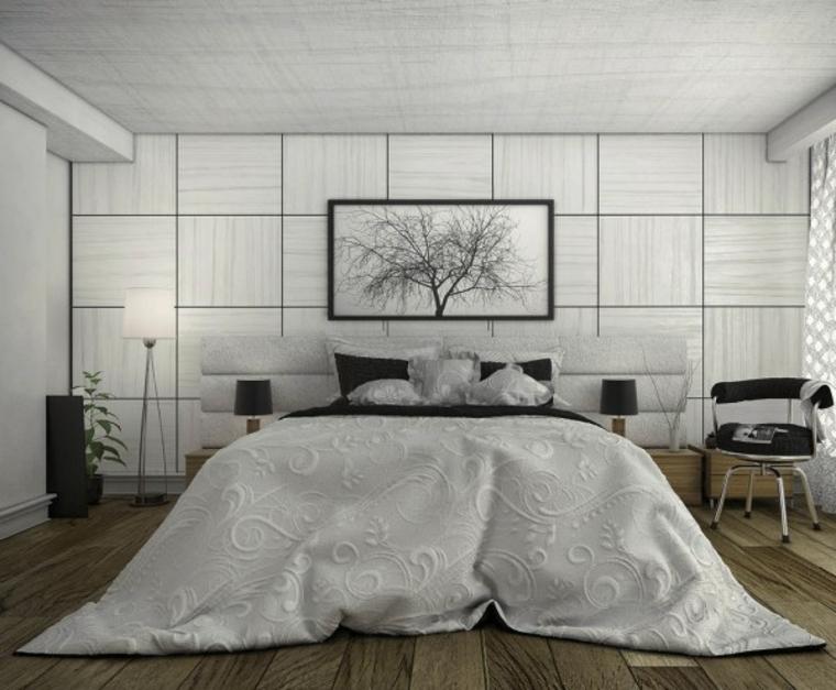 decoración cuarto lujoso blanco colcha
