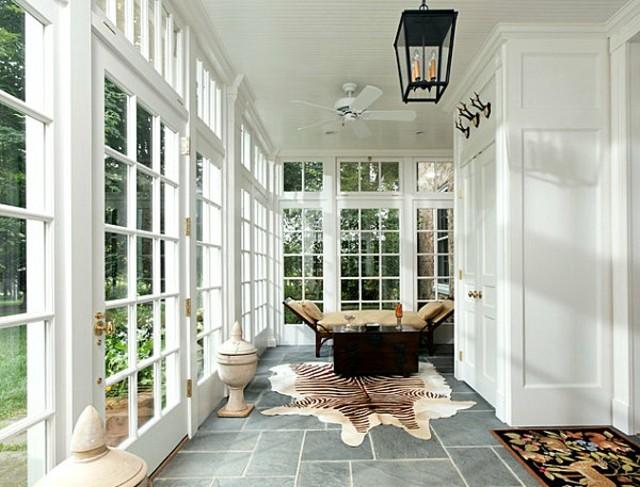 decoración de terrazas acristaladas blanca