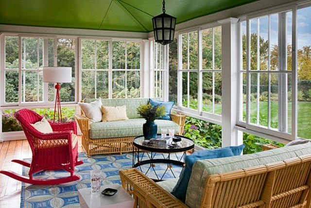 decoración de terrazas colores vivos