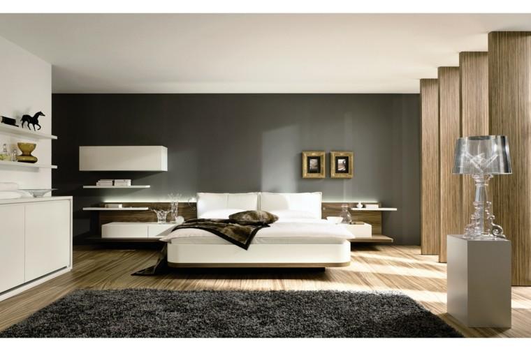 decoración dormitorios lineas rectas minimalista