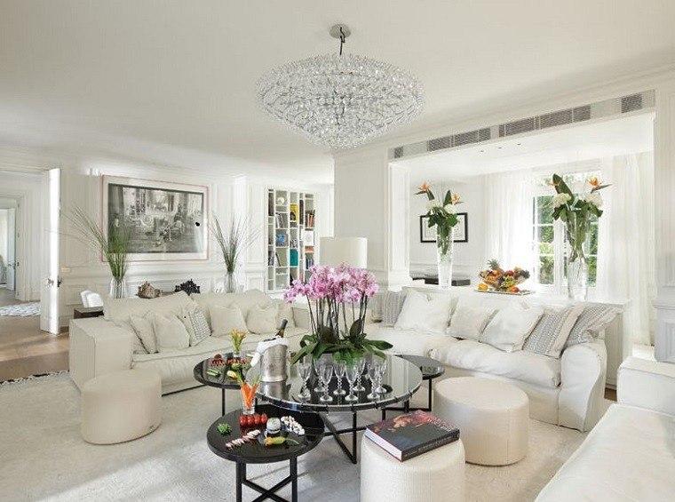 decoración salones color blanco lujoso