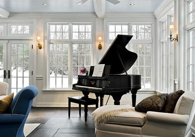 decoración terraza acristalada piano royal