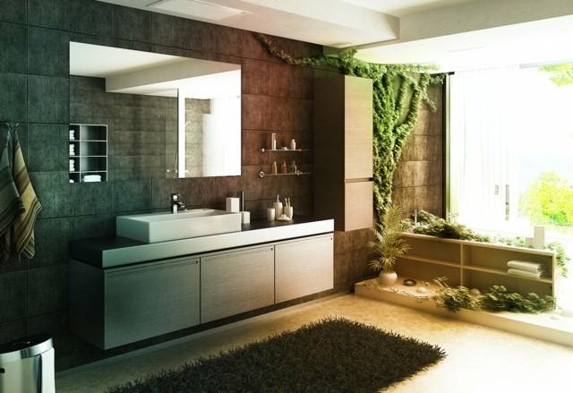 decoracio de interiores baño naturaleza ideas bonitas