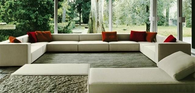 decoración de interiores blanco muebles grandes amplio