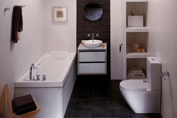 decoracion baño pequeño moderno idea genial blanco