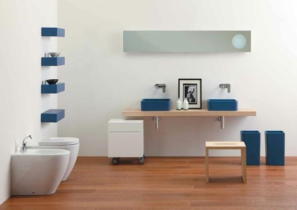 decoración de baños suelo laminado
