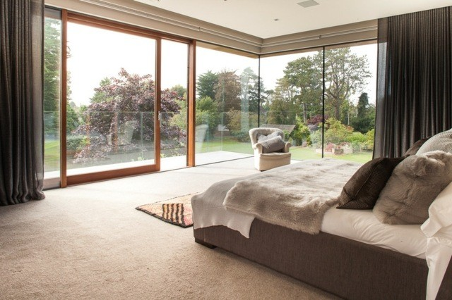 decoración de dormitorios jardin ventanas cortinas plantas