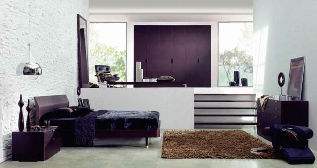 decoración de dormitorios moderno mobiliario naturales
