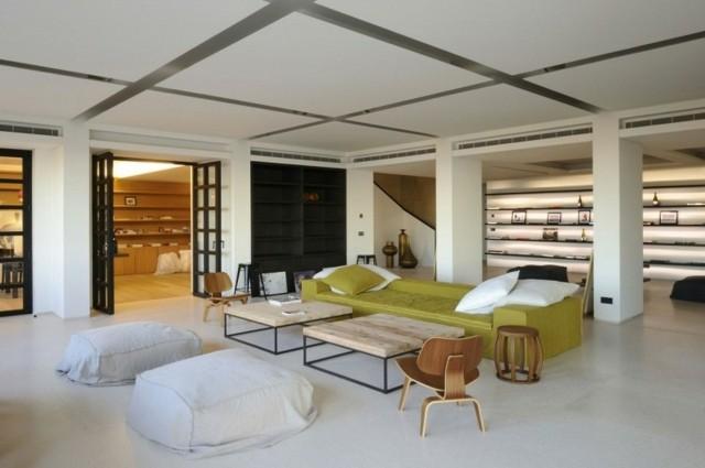 decoracion de interiores canape moderno mesas madera