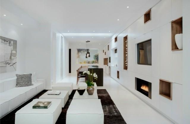 decoración de interiores largo blanco tranquiliza moderno