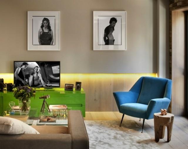 decoración de interiores muebles interesantes colores llamativos moderno