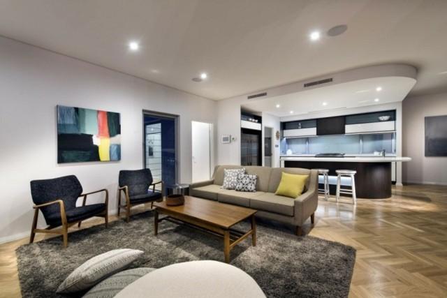 decoración de interiores salon simple moderno diseño