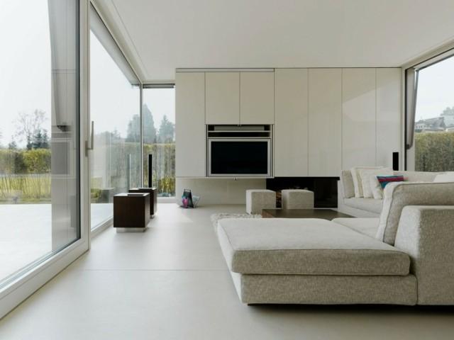 decoración de interiores salon ventanales blanco desiño comodo
