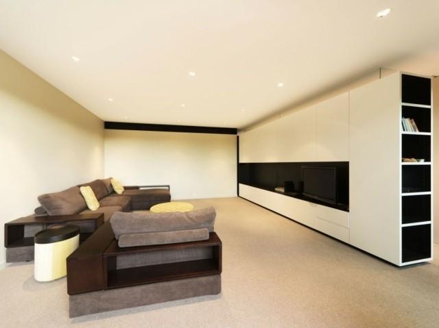 decoración de interiores sutil muebles marron paredes