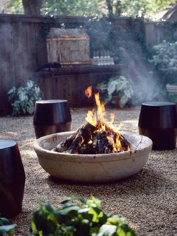 decoración de jardines amplios con plato ancho