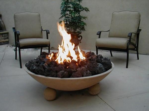 decoración de jardines plato con bolas de granito para pies