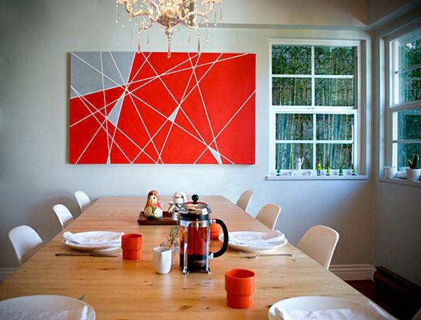 decoracion de paredes formas geometricas papel carton