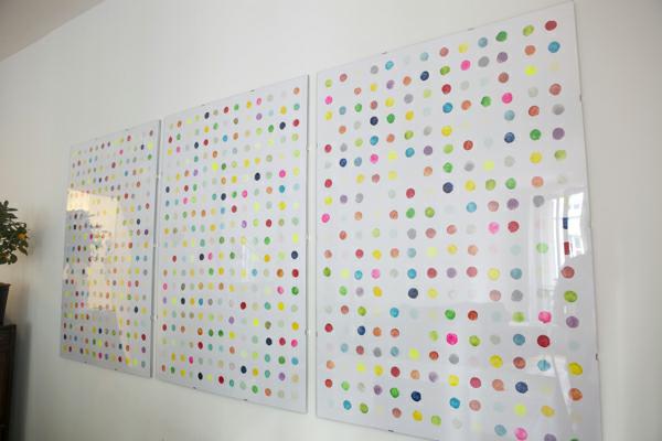 decoración de paredes circulos colores
