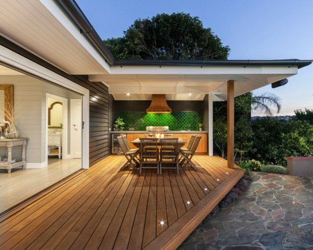 decoracin de terrazas en madera comedor en exterior - Decoracion De Terrazas Exteriores