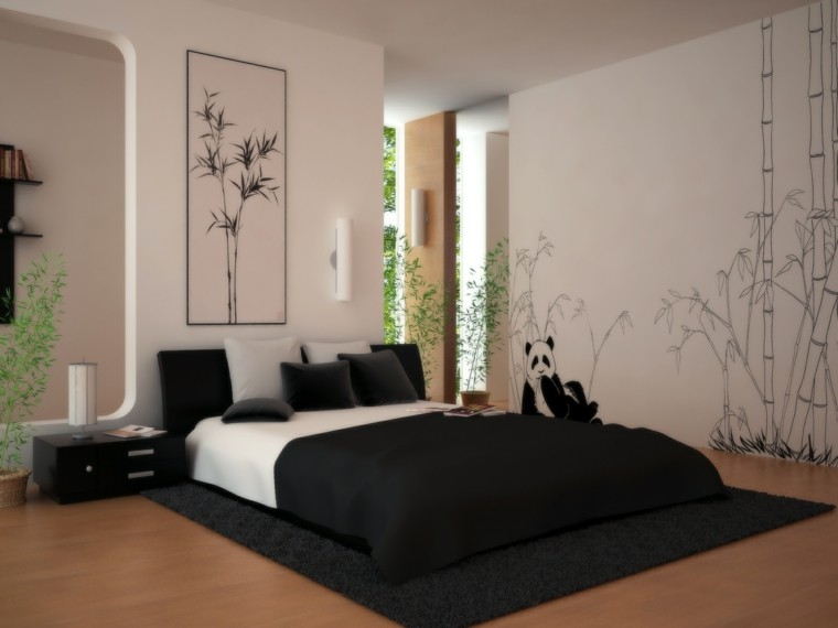Decoraci n dormitorios 80 ideas que le dejar n sin aliento - Decoracion de paredes de habitaciones ...