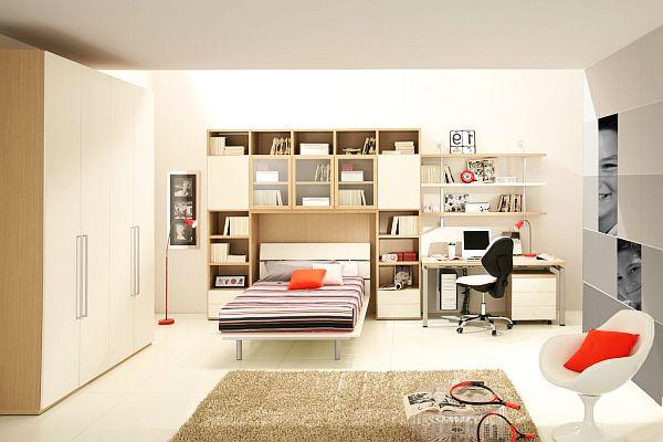decoración de dormitorios chicos iluminado colores claros
