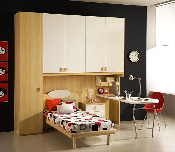 decoración de dormitorios sensillo pequeño luminoso grandes armarios
