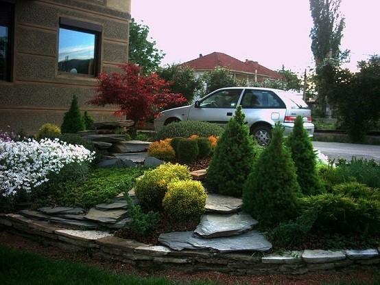 decoracion jardin ideas diseño rocas moderno