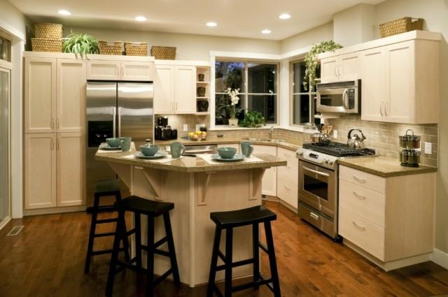 decoracion magnifica moderna curvas cocina blanca