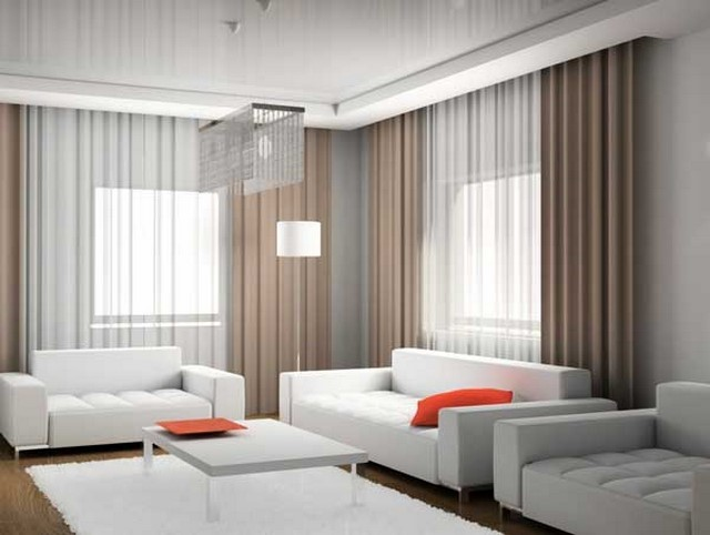 decoracion salon cortinas dejan entrar luz