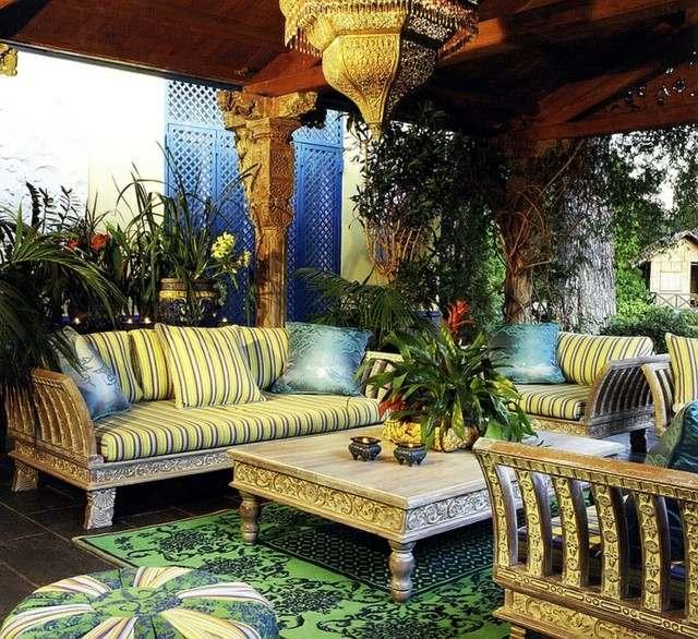 decoraciones terrazas ccolores amarillos diseño luminoso decoro