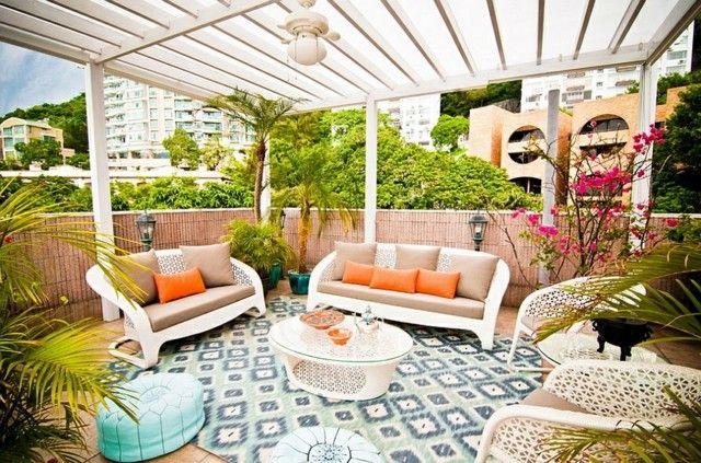 decoracion terrazas fabulosa tropical color llamativos