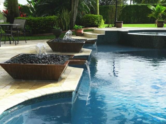 mobiliario de jardín piscina