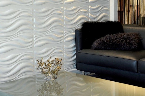 decorar paredes relieve olas sof