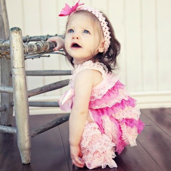 diadema niña pequeña rosa lazo
