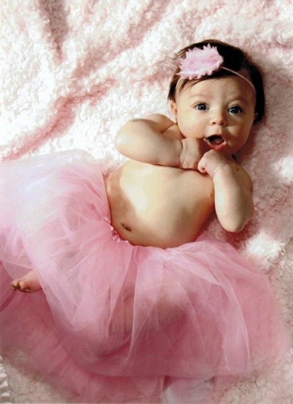 diadema bebe tutu rosa pluma