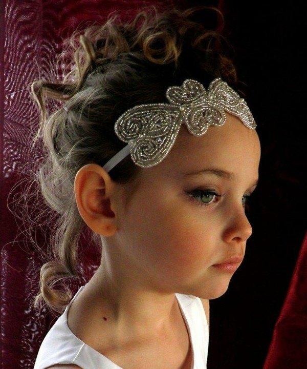 diadema blanca mariposa brillo perlitas