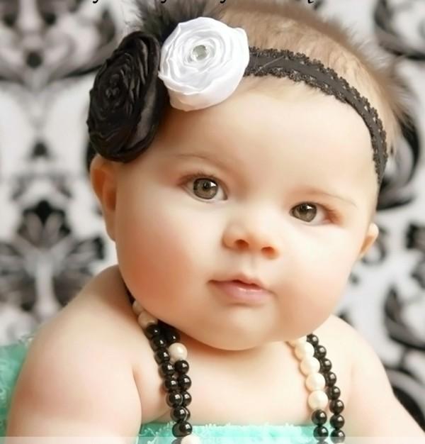 Diademas modernas para bebes - Diademas para bebes bautizo ...
