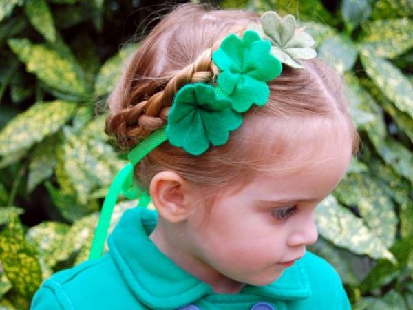 diadema niña treboles verdes tres