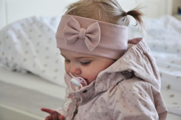 diadema rosa lazo bebe felpa