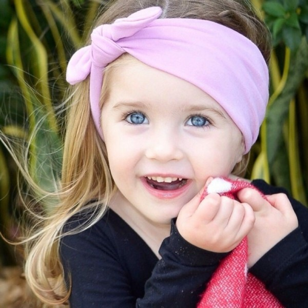 diadema rosa niña nudo lazo
